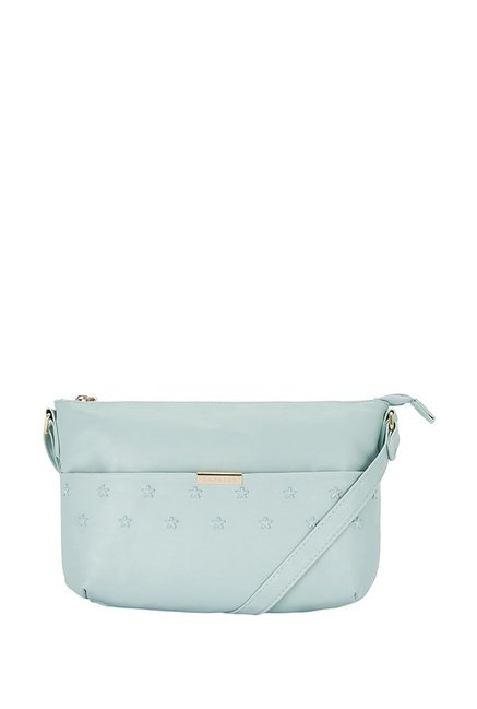 5d16304a8 Buy Caprese Powder Blue Textured Sling Handbag For Women At Best Price    Tata CLiQ