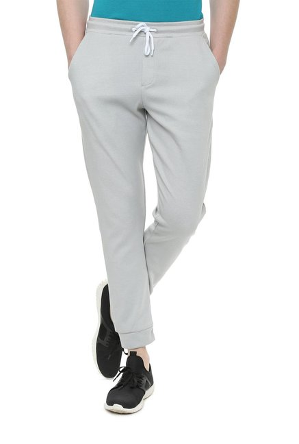 87e94066563 Buy Solly Sport by Allen Solly Grey Mid Rise Joggers for Men Online   Tata  CLiQ