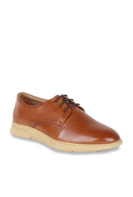 Buy Van Heusen Tan Derby Shoes for Men