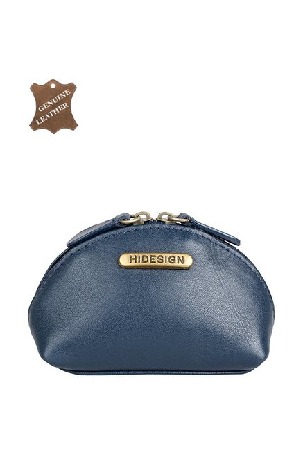 Hidesign H5 Blue Leather Coin Pouch from Hidesign at best prices on Tata  CLiQ