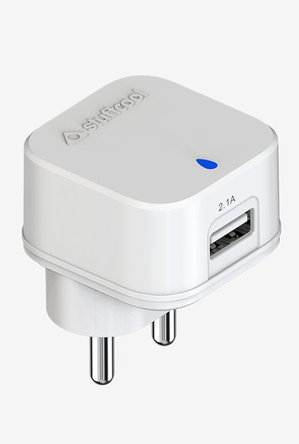 Stuffcool Pluto 2.1 Amp Single USB Wall Charger  White
