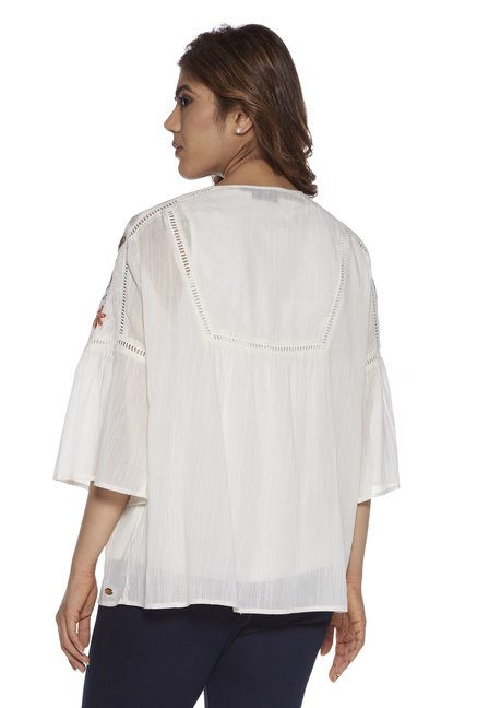 45fd148cbf8d31 Buy Gia curve by Westside Off White Clarry Top With Inner for Women ...