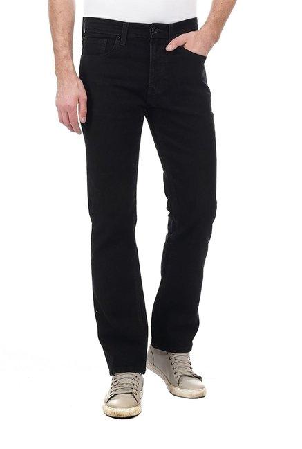 Buy Pepe Jeans Black Solid Regular Fit Cotton Jeans for Men
