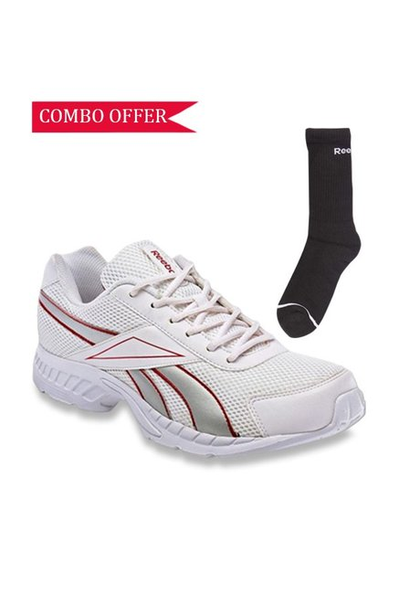 3008f87c3f Buy Reebok White Running Shoes with 3 Pair of Socks for Women at ...