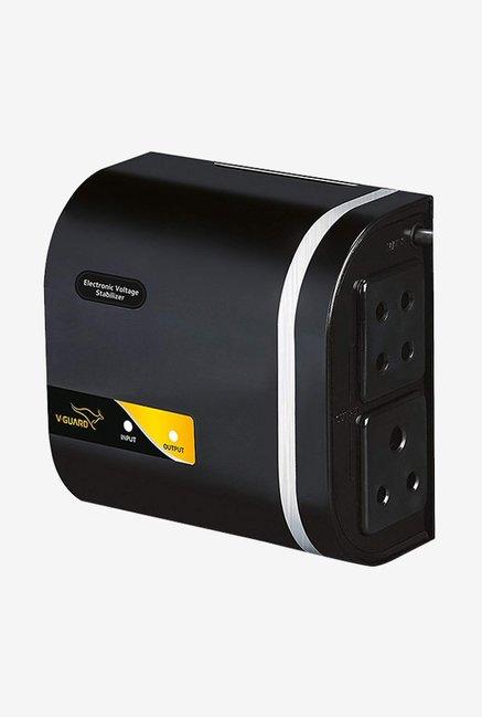V Guard Mini Crystal Voltage Stabilizer for TV  Black