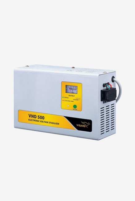 V Guard VND 500 Voltage Stabilizer for AC up to 2 Ton  Grey