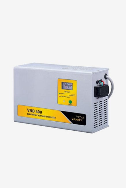 V Guard VND 400 Voltage Stabilizer for AC up to 1.5 Ton  Grey