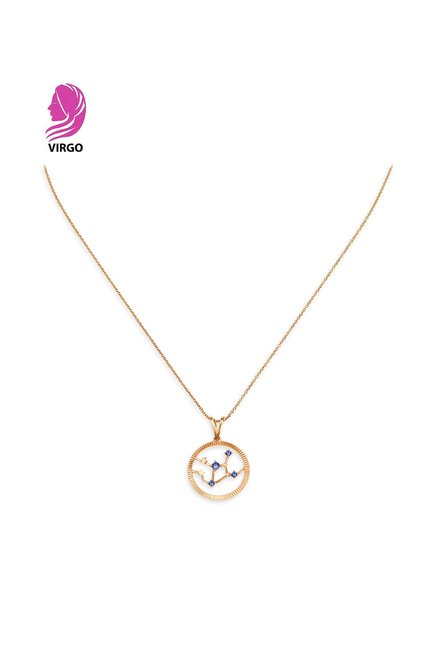 Mia by Tanishq Virgo 14 kt Gold Pendant with Chain
