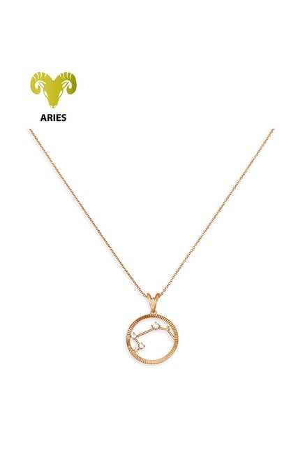 Mia by Tanishq Aries 14 kt Gold Pendant with Chain