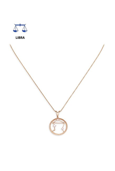Mia by Tanishq Libra 14 kt Gold Pendant with Chain
