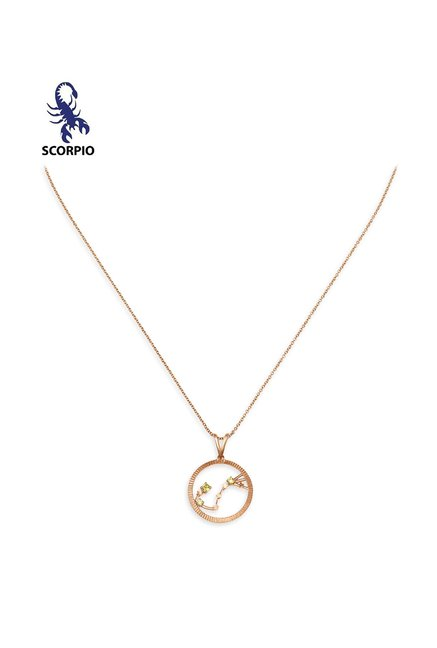 Mia by Tanishq Scorpio 14 kt Gold Pendant with Chain
