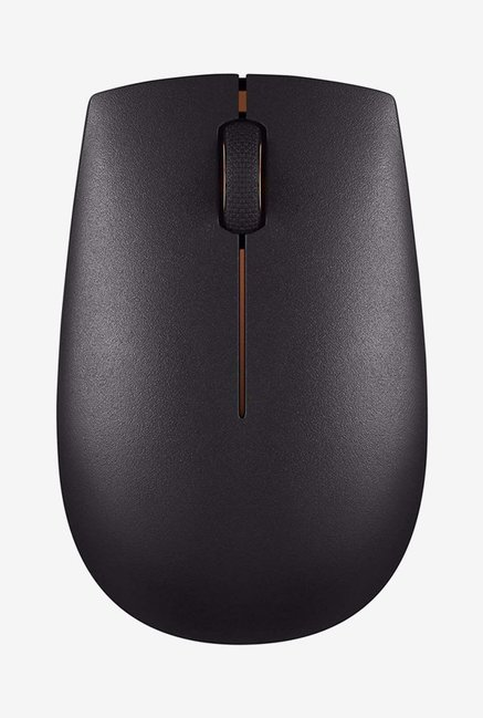 Lenovo 300 Wireless Compact Optical Mouse  Black