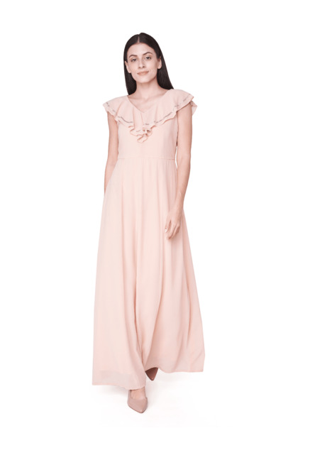 f8e582a4f4 Buy AND Flesh Maxi Gown for Women Online @ Tata CLiQ