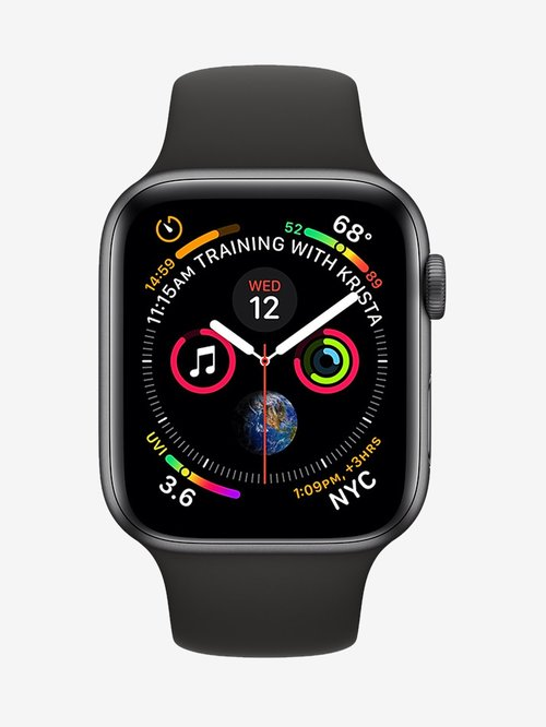 Apple Watch Series 4 MTVD2HN/A (GPS+Cellular 40mm) Space Gray Aluminum Case with Sport Band (Black)