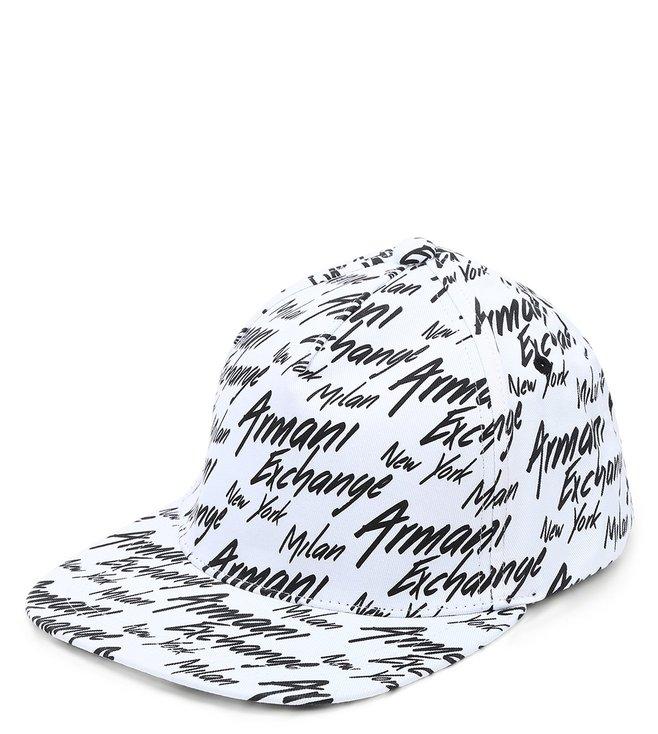 Armani Exchange White & Black Vintage Baseball Cap