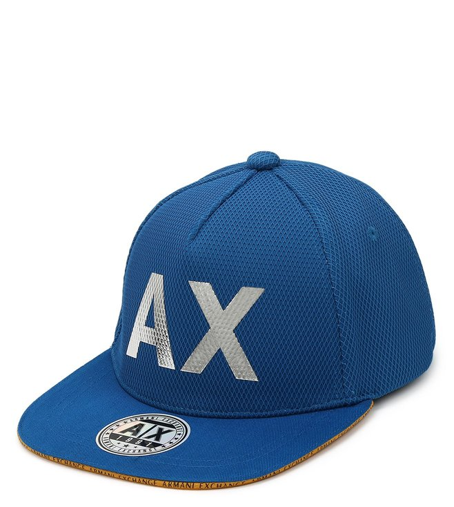 Armani Exchange Mykonos Blue Vintage Baseball Cap
