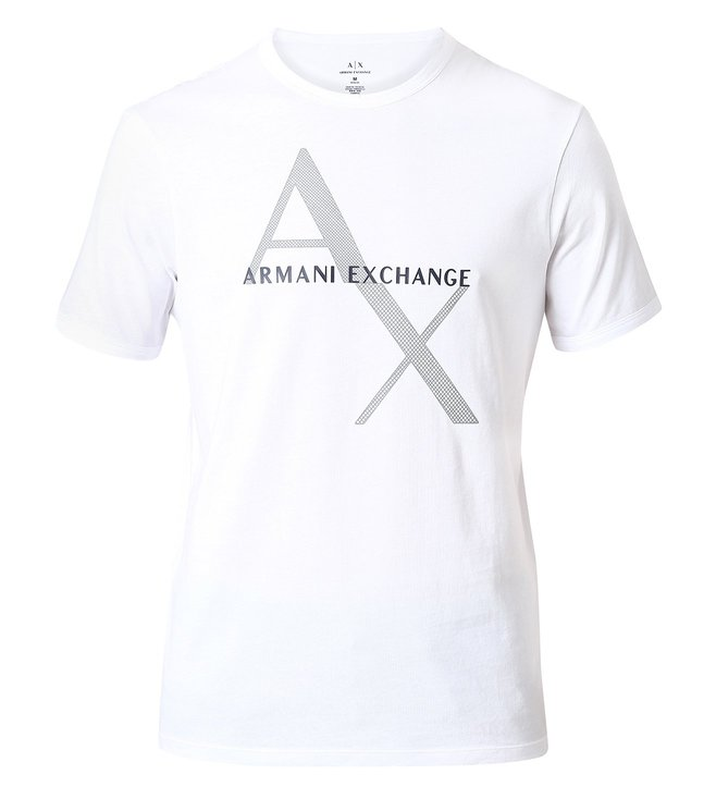 4f0afd6566dd Buy Armani Exchange White Classic Logo Print T-Shirt for Men Online ...