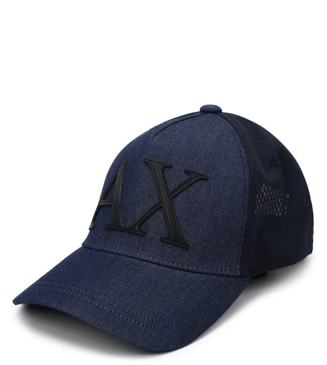 Armani Exchange Denim Blue & Navy Sports Baseball Cap