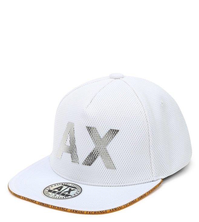 Armani Exchange Bianco Vintage Patch Baseball Cap