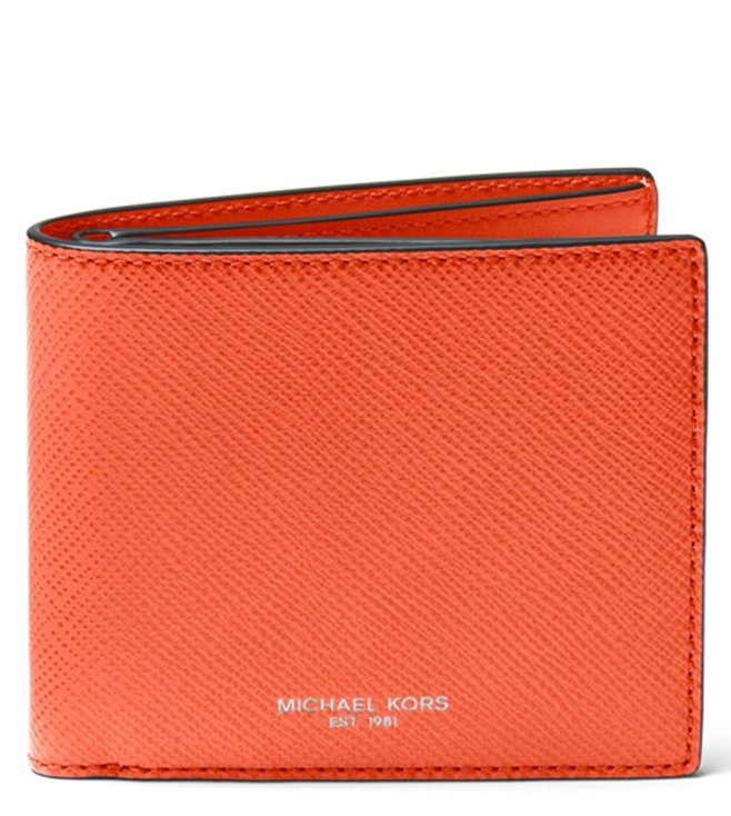 0301ccd63901f9 greece michael michael kors bright orange harrison small wallet 3aa90 2c2e6