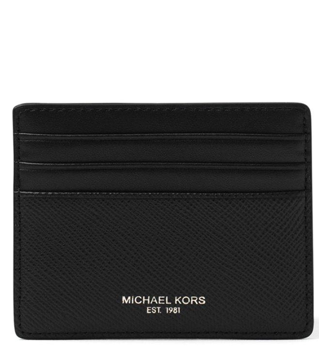 newest 268c1 ce16d Buy MICHAEL Michael Kors Black Harrison Leather Card Case for Men ...