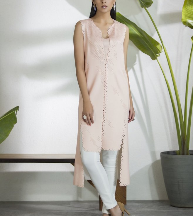 AM:PM Couture Pink & White Neoprene Tunic Set