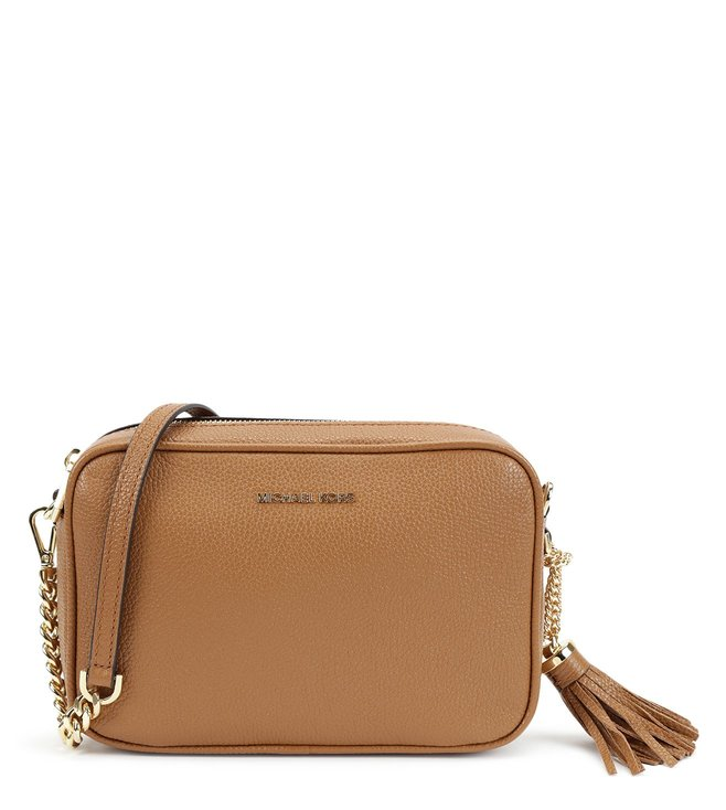 1dec2a576485 Added to Bag. MICHAEL Michael Kors Acorn Ginni Leather Cross Body Bags