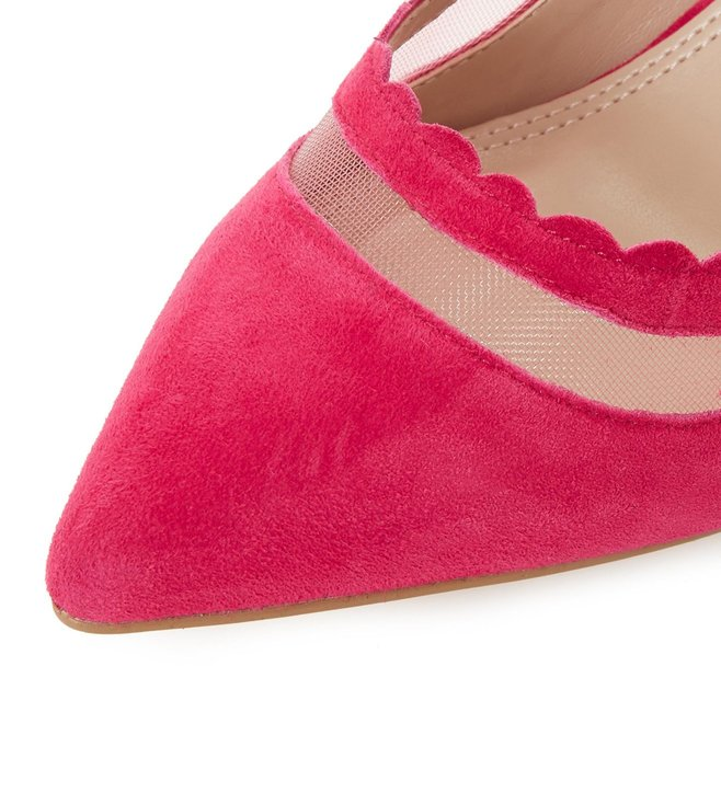 a5b3f617363 Buy Dune London Pink Britania Scallop Mid Heel Pumps for Women ...