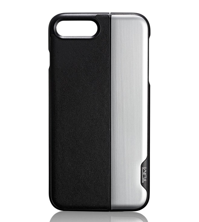 finest selection 4e88a 997f0 Buy Tumi Black & Silver Horizontal Slider iPhone 8 Plus Case Online ...
