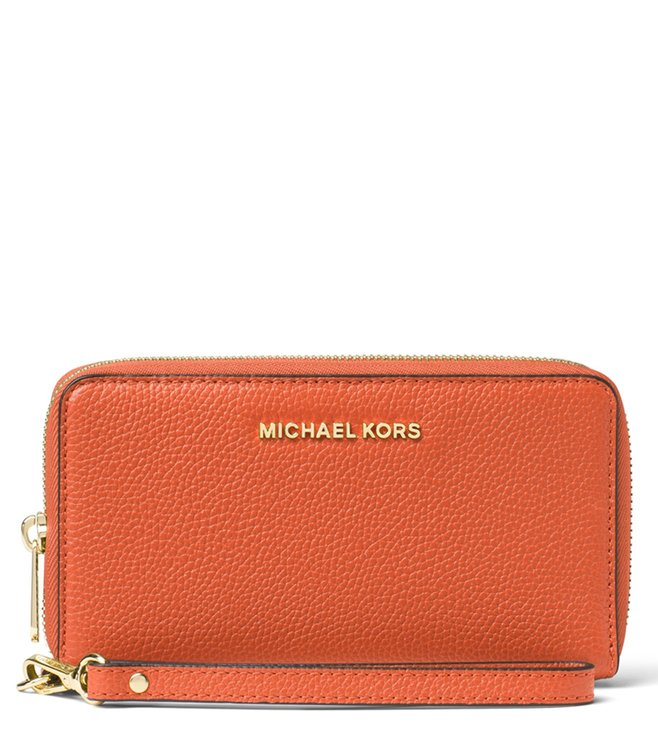 58c061c6c3ccf6 Buy MICHAEL Michael Kors Orange Mercer Large Wallet for Women Online ...