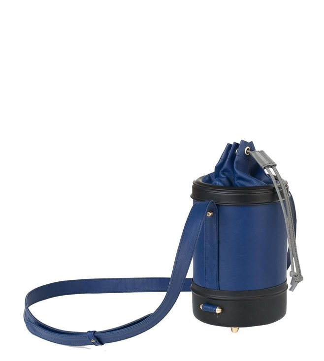 Kassa Blue & Black Large Cask Sling Bag