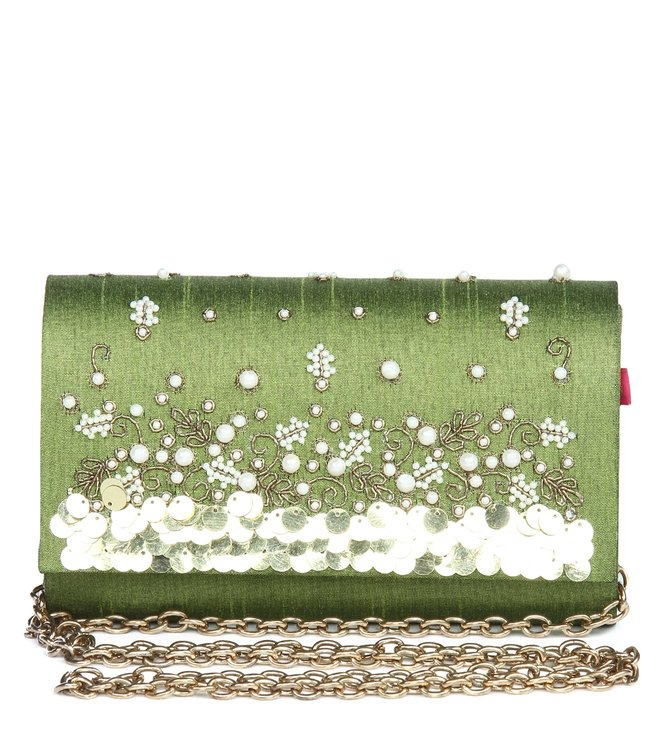 House of Vian Olive Fantasy Clutch