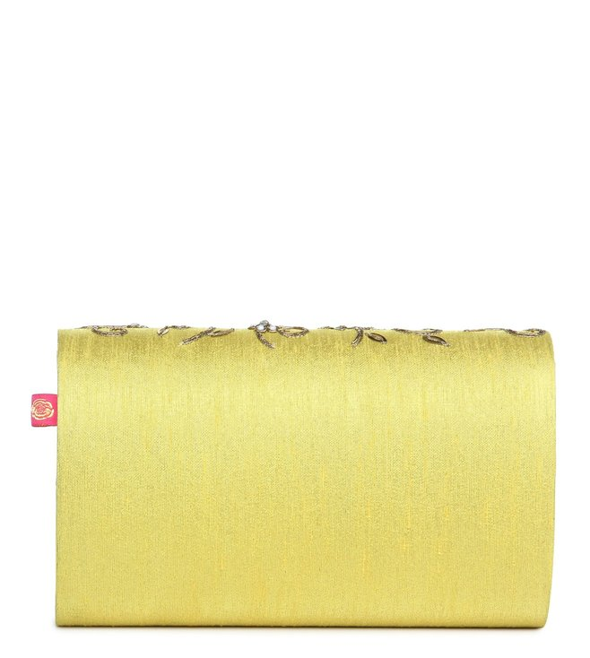 House of Vian Yellow Marigold Clutch