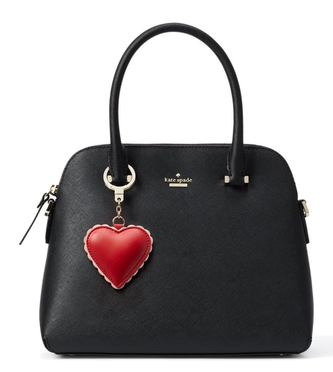 Buy Kate Spade Scalloped Heart Leather Keychain Online