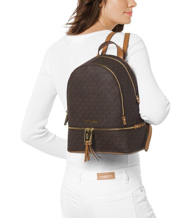 223cd7266234 Buy MICHAEL Michael Kors Rhea Zip Brown Small Backpack For Women ...