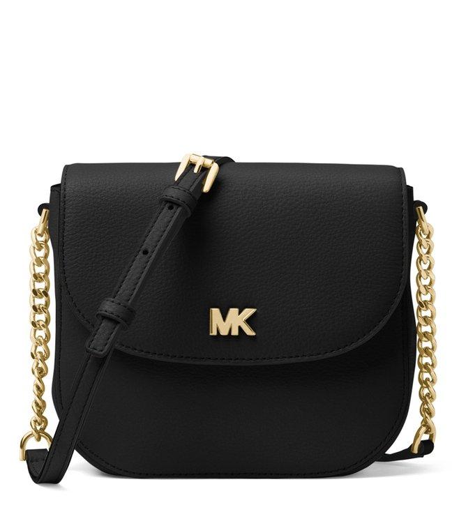 6eee300add38 Buy MICHAEL Michael Kors Black Mott Cross Body Bag for Women Online ...