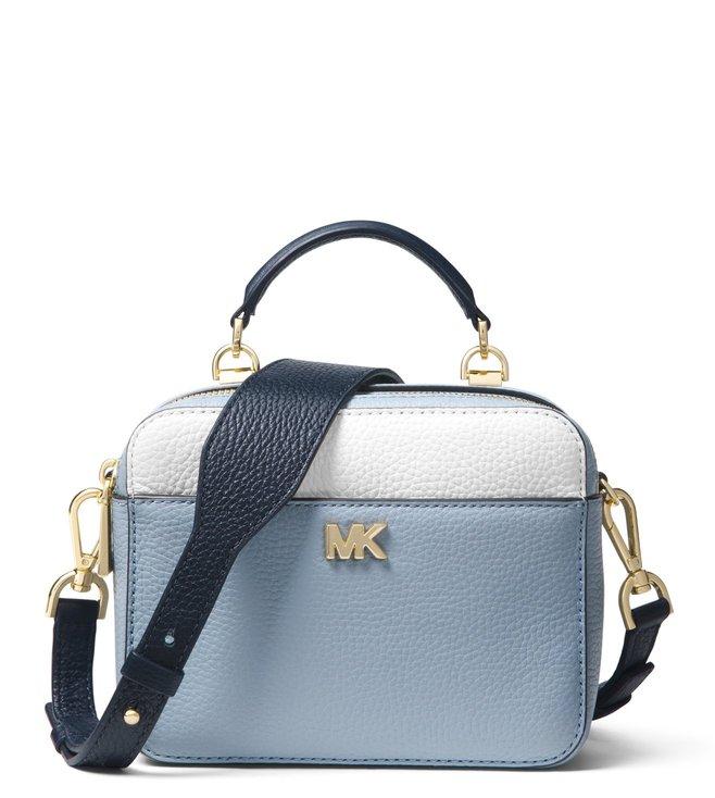 d001b6253da2 Added to Bag. MICHAEL Michael Kors Pale Blue Mott Mini Cross Body Bag