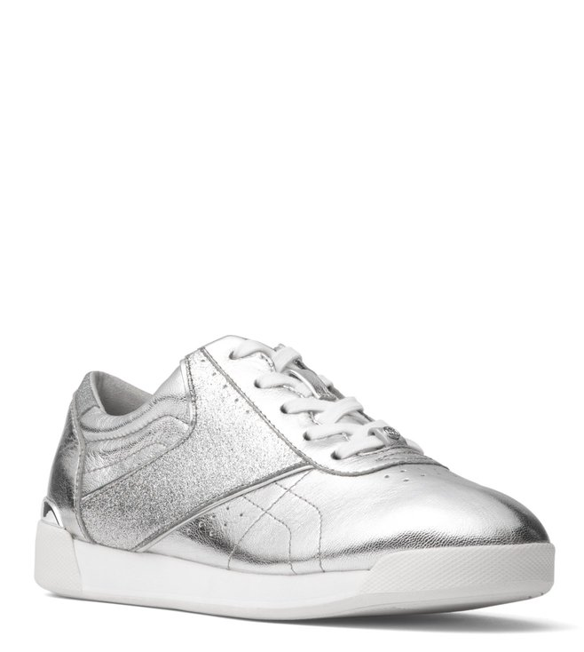 ce4d7a4079 Buy MICHAEL Michael Kors Silver Addie Sneakers for Women Online ...