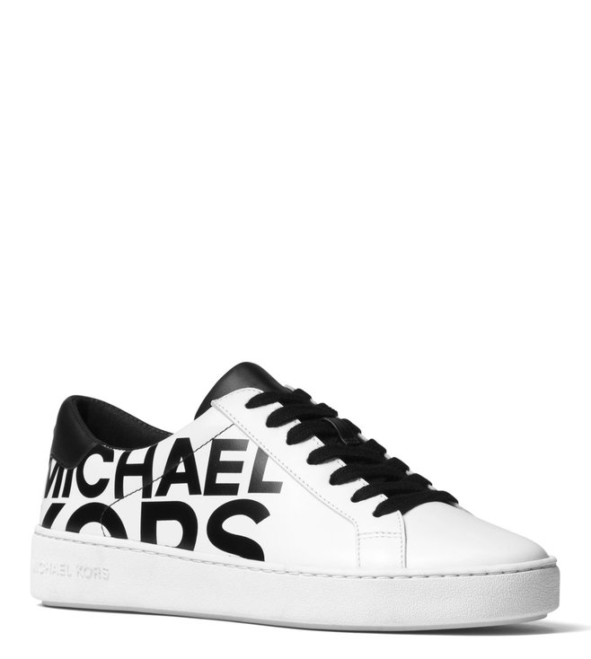 221829df7e29 Michael Kors. MICHAEL Michael Kors Optic White   Black Irving Sneakers ...