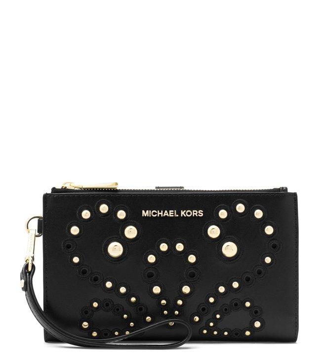 e585d4136 Buy MICHAEL Michael Kors Black Adele Leather Smartphone Wristlet for ...