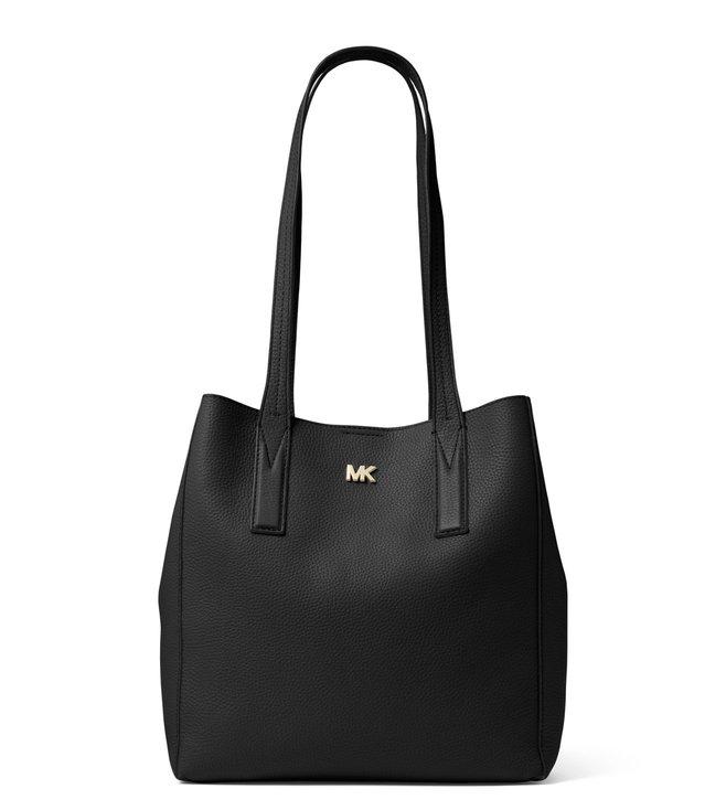 3ff8195455ae Buy MICHAEL Michael Kors Black Junie Pebbled Leather Tote for Women Online    Tata CLiQ Luxury