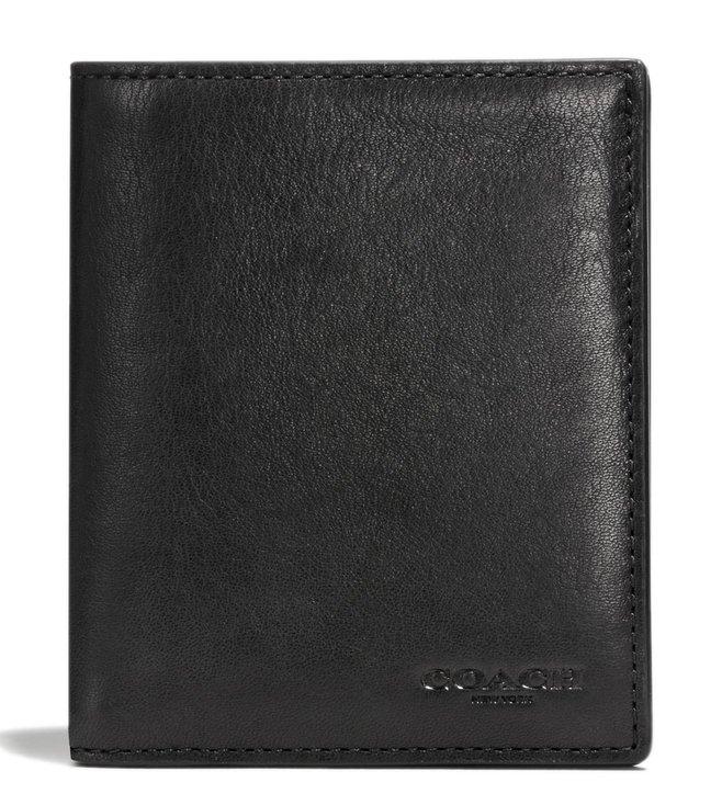 58b7b2b943 Buy Coach Black Slim Coin Leather Wallet for Men Online @ Tata CLiQ ...