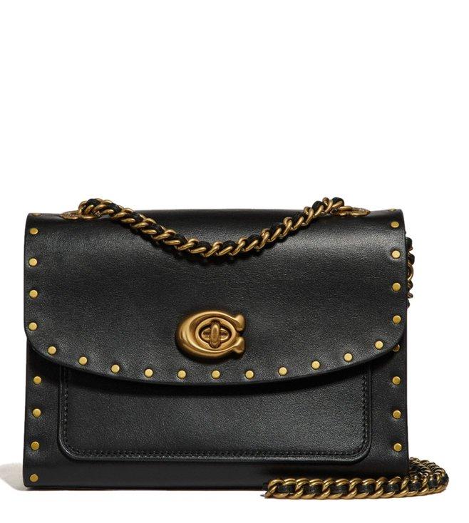 429a3c33ab Buy Coach Black Parker 18 Textured Shoulder Bag for Women Online ...
