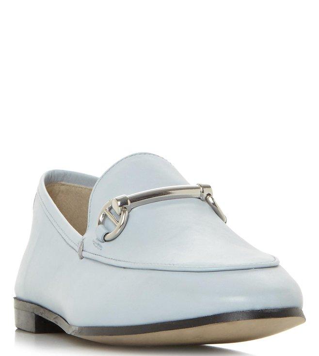 09c7a4b3427 Buy Dune London Pale Blue Guilt Slip-On Loafers for Women Online   Tata  CLiQ Luxury