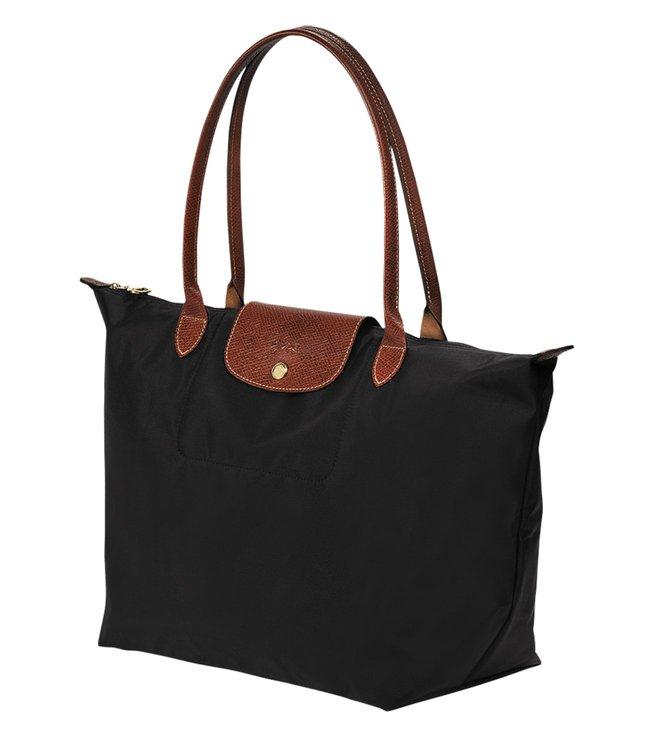 39aeb704cec7 Buy Longchamp Le Pliage Black Large Tote for Women Online   Tata ...
