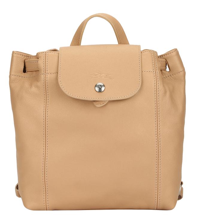 Buy Longchamp Essential Le Pliage Cuir Golden Beige Medium ...