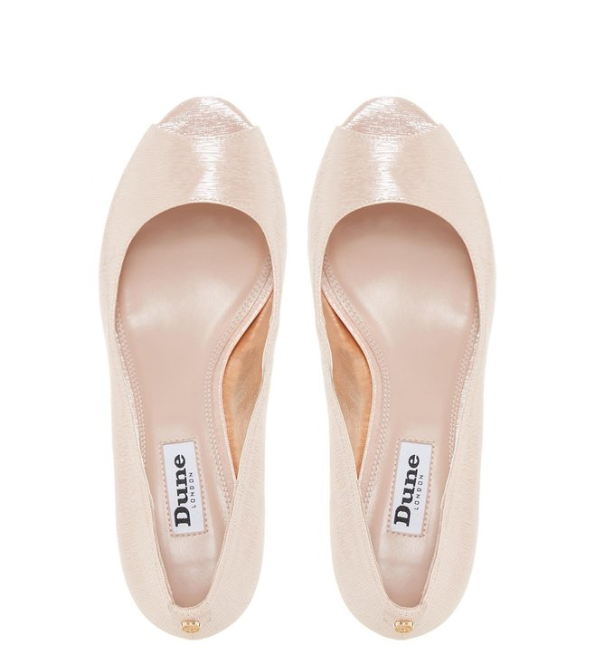 a8485873c9 Buy Dune London Rose Gold Metallic Cherrie Peeptoe Shoes for Women ...