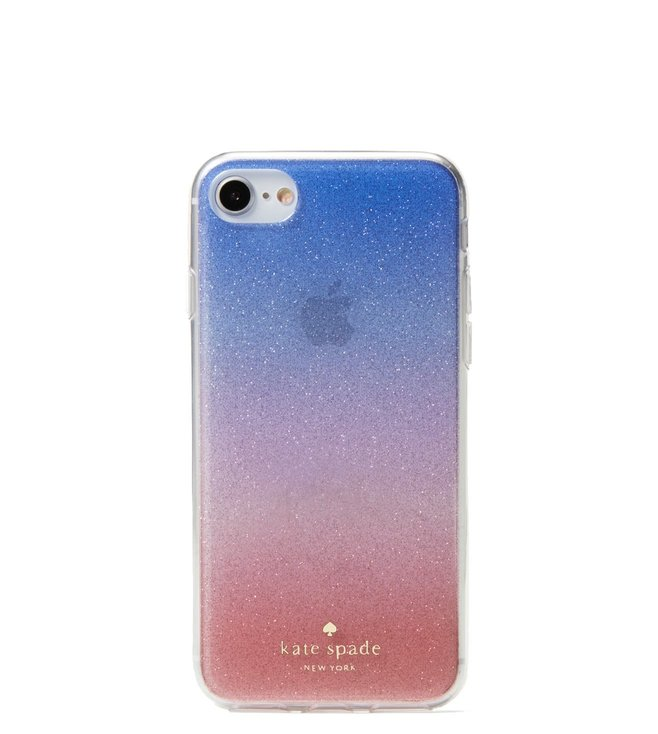 Added to Bag. Kate Spade Pink Multi Sunset Glitter Ombre Iphone 8 Case 9057703714