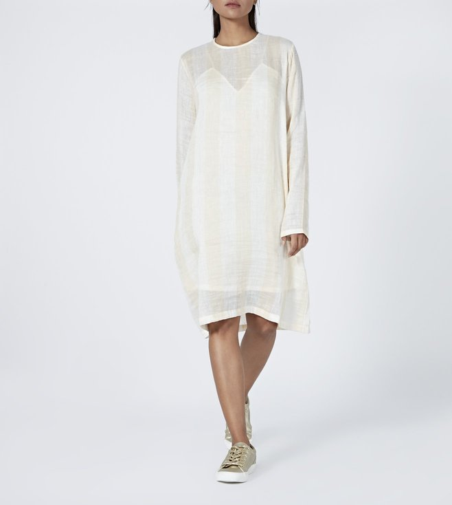 Aish Beige & Cream Misho Mia Dress With Slip