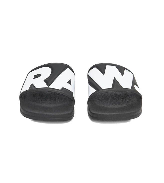 c499d01b402 Buy G-Star RAW Black   White Cart Slides for Men Online   Tata CLiQ ...